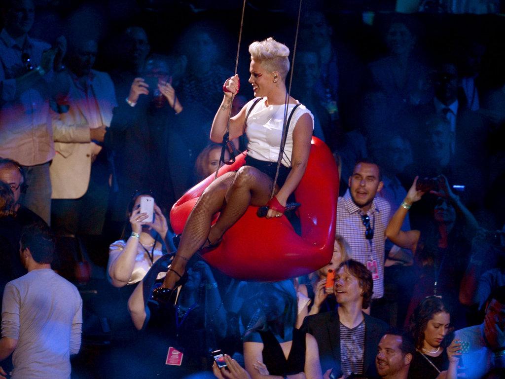 Pink performed at the VMAs.