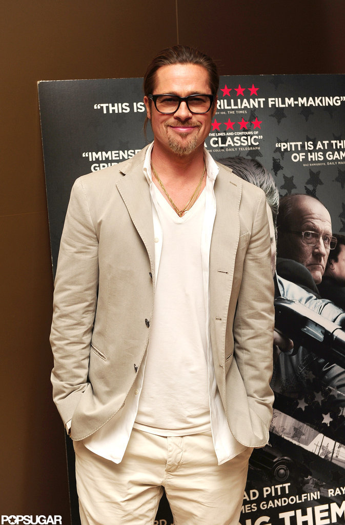 Brad Pitt attended a screening of Killing Them Softly in London.