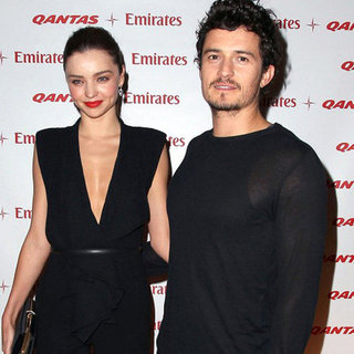 Miranda Kerr and Orlando Bloom at Qantas Launch | Pictures