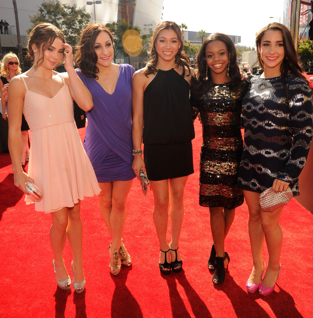 The Fab Five were all smiles on the red carpet.