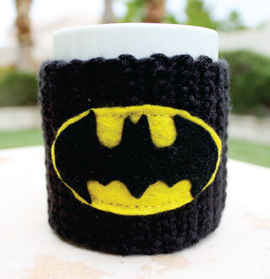 Batman Inspired Cup Cozy ($16)
