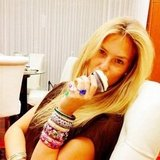 Bar Refaeli ate a cupcake and showed off her arm party. Source: Instagram user barrefaeli