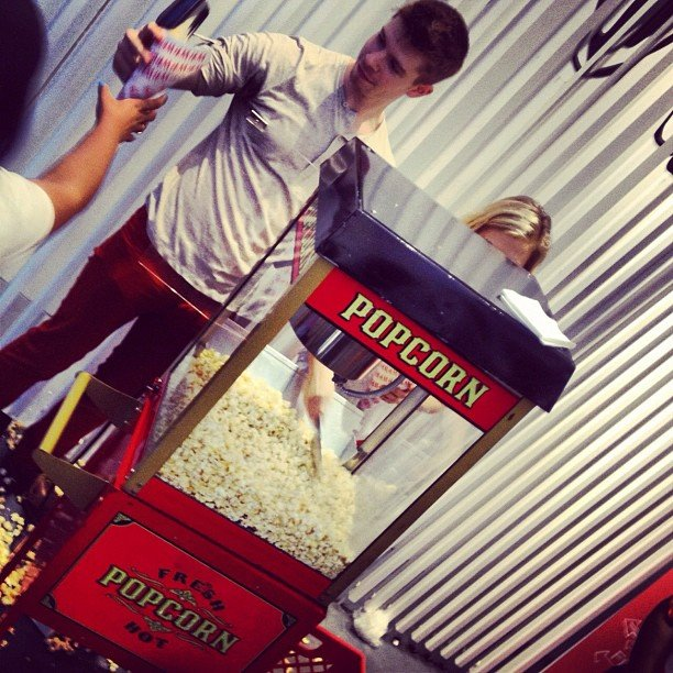 Popcorn treats were given out at the H&M SoHo location.