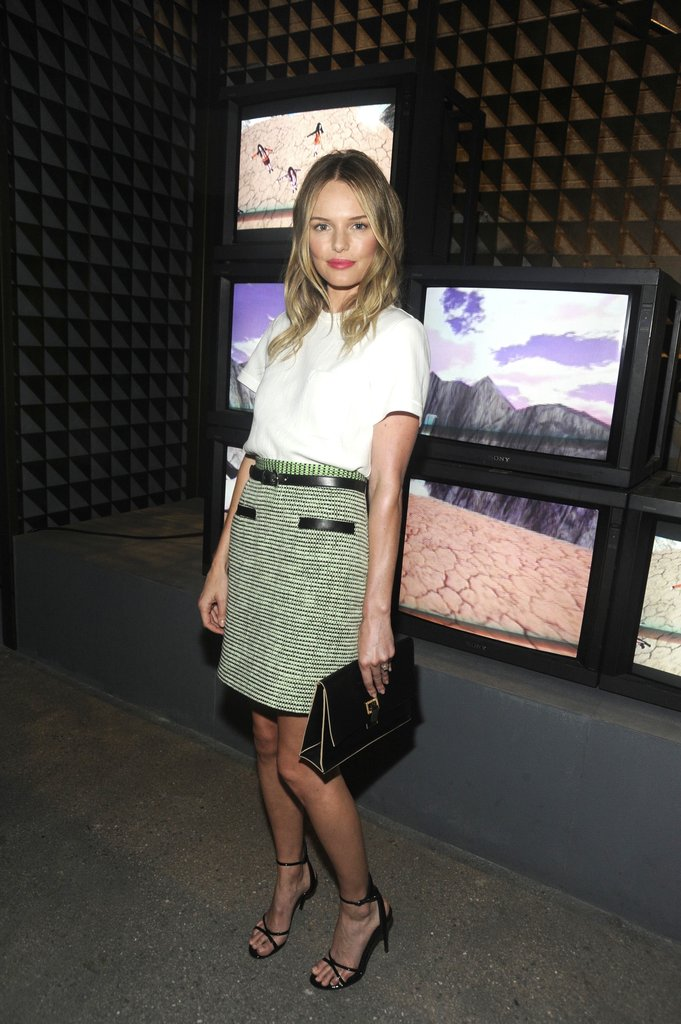 Kate Bosworth perfected her Proenza Schouler look at the designer's NYC store opening.