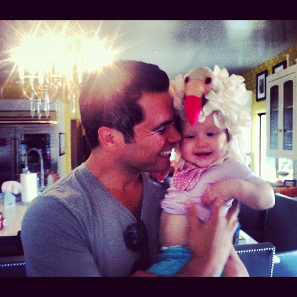 Cash Warren shared a cute picture of Haven wearing a funny hat. Source: Instagram user cash_warren