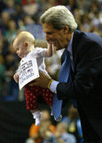 John Kerry plucked a lil supporter from the crowd in Reno, NV, during a 2004 campaign rally.