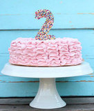 Sprinkle-Topped Ruffle Cake