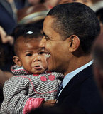 After speaking about the economy in Allentown, PA, in 2009, Barack Obama might not have won over one lil girl.