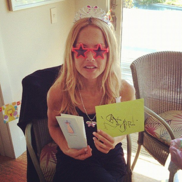 Rachel Zoe showed off the birthday card Skyler made for her. Source: Instagram user rachelzoe