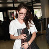 Pictures Of Kristen Stewart At Airport Wearing Robert Pattinson's T-Shirt