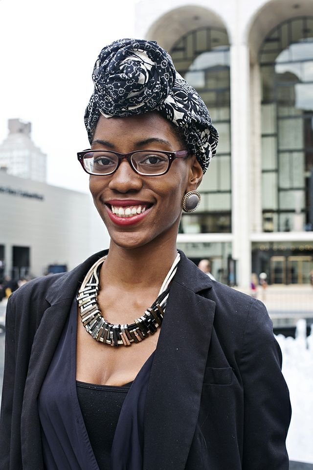 A head wrap can up the ante of any ensemble in an instant.  Photo by Caroline Voagen Nelson