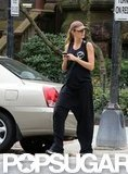 Gisele Bundchen walked home from the gym in Boston.