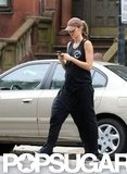 Gisele Bundchen crossed a street in Boston.