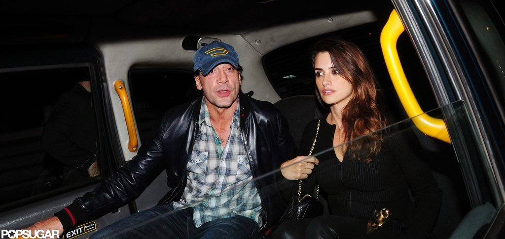 Penelope Cruz and Javier Bardem met up with Cameron Diaz in London.