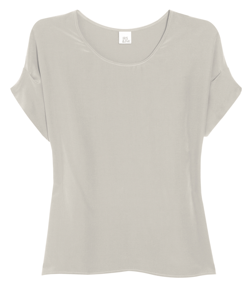 Iris & Ink Silk Shell Top ($95)