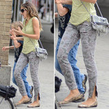 Score Sarah Jessica Parker's laid-back camouflage skinny jeans just in time for Fall.