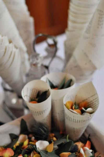 Book Page Confetti Cones