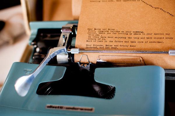 Vintage Typewriter Guest Book