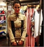 Australian uber-stylist, Kelly Smythe, tweeted this pic of Jodi Gordon in a — sigh — Burberry trench at FNO. We want one! Source: Twitter user kellysmythe