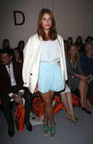 Gemma Arterton was pretty in pastels for Holly Fulton.