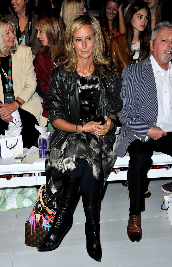 Lady Victoria Hervey went for textures at Maria Grachvogel.