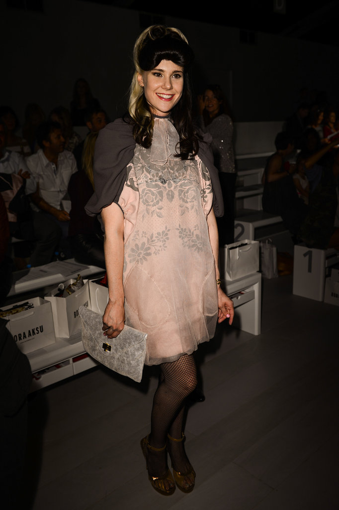 Kate Nash was embellished at the Bora Aksu show.