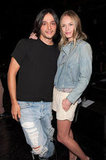 Kate Bosworth and Olivier Theyskens posed together backstage.