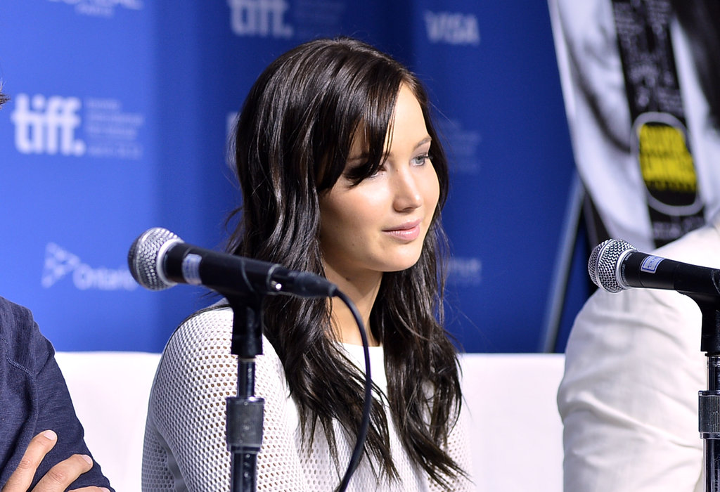 Jennifer Lawrence promoted Silver Linings Playbook.
