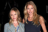 Kate Bosworth and Doutzen Kroes hung out together at the show.