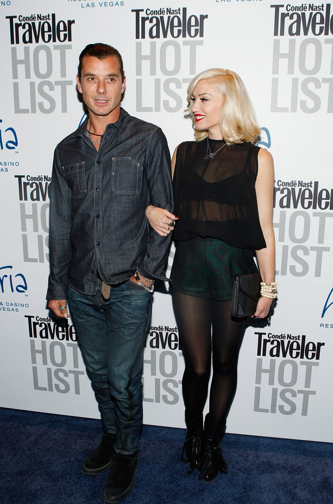 Gavin Rossdale and Gwen Stefani arrived at a Condé Nast Traveler party in Las Vegas in April 2010.