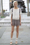 Ample texture made this pleated skirt look a standout. Source: Greg Kessler