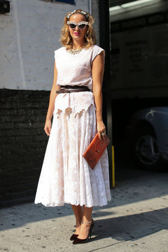 Lace from head-to-toe, quite literally, made this a seriously feminine look.