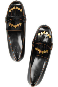 Chloé | Fringed patent-leather loafers | NET-A-PORTER.COM