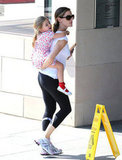 Jennifer Garner gave Seraphina Affleck a lift.