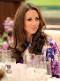 Kate Middleton looked gorgeous in a lavender dress.