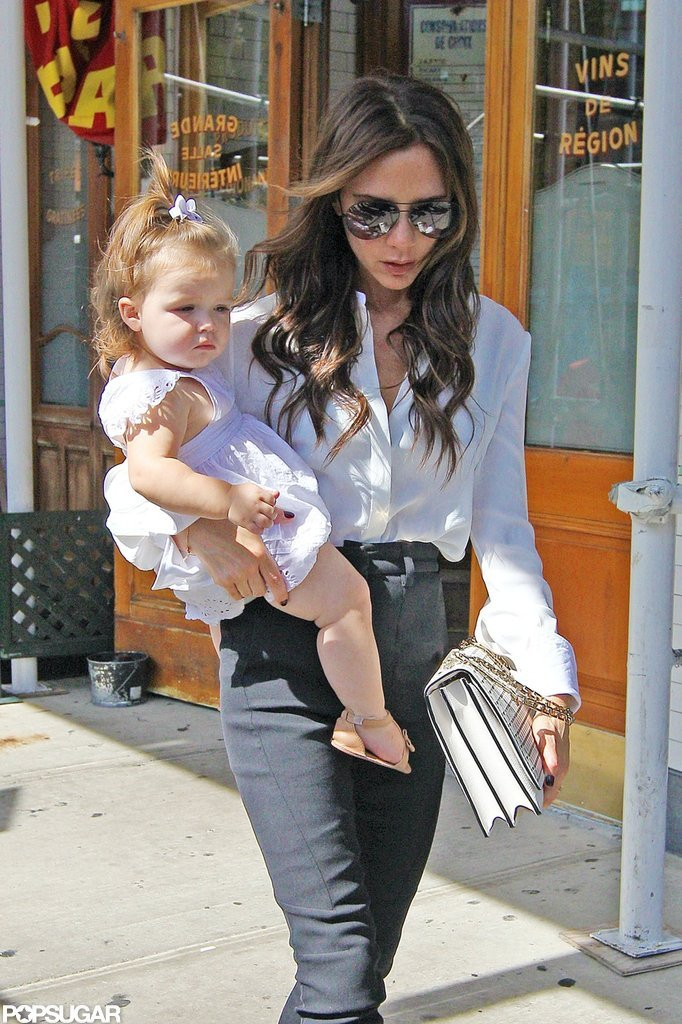 Victoria Beckham and Harper Beckham were spotted in NYC.