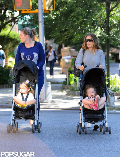 Sarah Jessica Parker strolled her twins, Tabitha and Loretta, around the West Village.