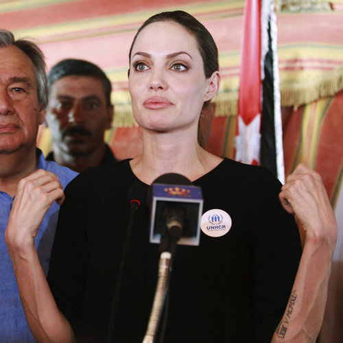 Angelina Jolie Visits Syrian Refugees in Jordan | Pictures
