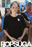 Angelina Jolie was in Jordan to visit the Al Zaatari refugee camp.