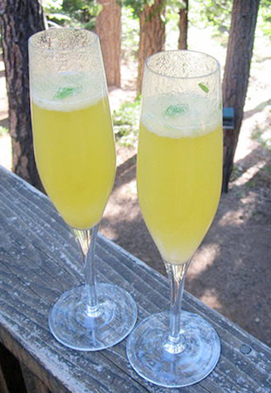 The Contemporary: Herb-Infused Bellini
