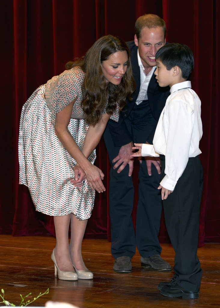 Will and Kate chatted with a young artist as they visited the Rainbow Centre on day two of the Diamond Jubilee tour of the Asia Pacific in 2012.