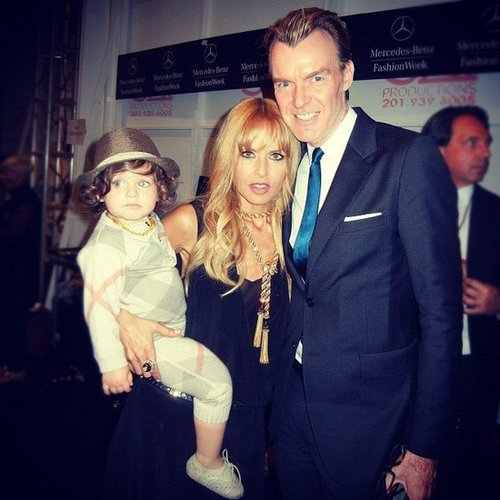 Neiman Marcus fashion director Ken Downing posed with Rachel Zoe and Skyler. Source: Instagram user neimanmarcus
