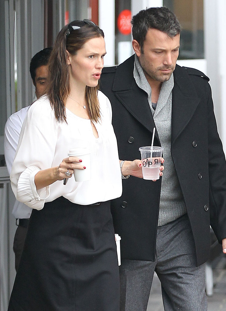 Ben Affleck and Jennifer Garner were side-by-side in Brentwood.