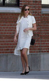 Kate Bosworth wore an all-white ensemble to visit Ground Zero.