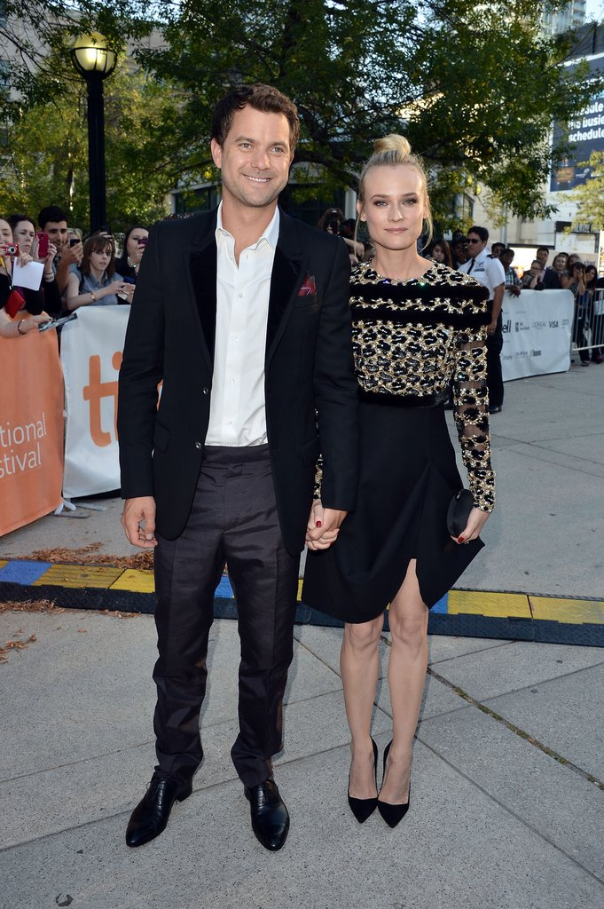Diane Kruger and Joshua Jackson held hands as they arrived at the Inescapable premiere at the Toronto International Film Festival.