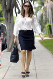 Jennifer Garner headed to a meeting.