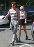 Miley Cyrus followed finacé Liam Hemsworth into Whole Foods in LA.