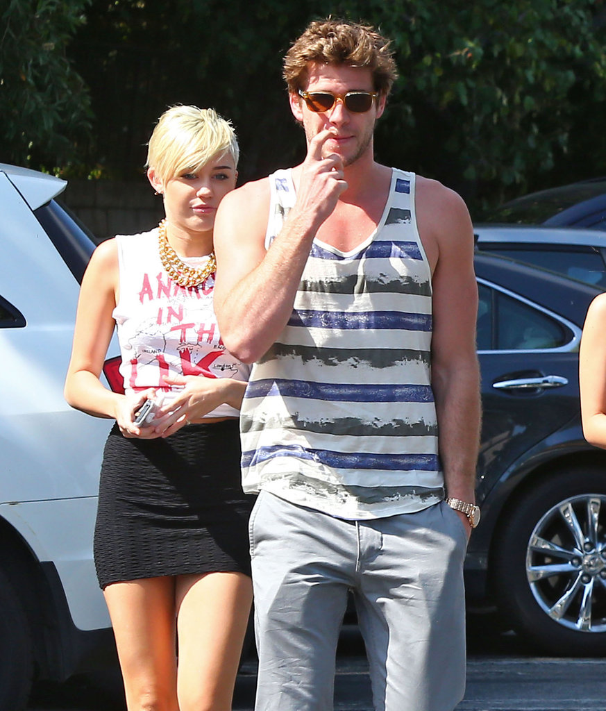 Miley Cyrus and Liam Hemsworth stopped by a Whole Foods in LA.