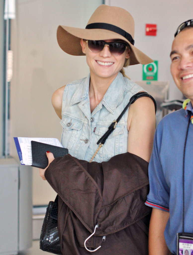 Diane Kruger flashed a smile.