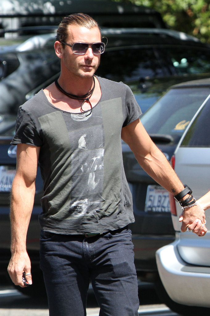 Gavin Rossdale accompanied Gwen Stefani in Burbank.
